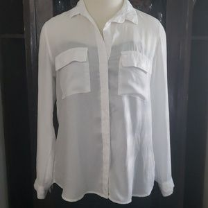 Anthropologie Bella Dahl  white blouse